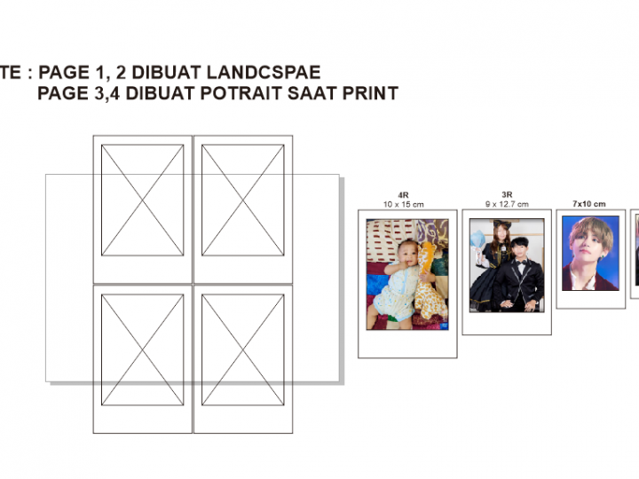 Download Template / Kolom Photo Polaroid format Corel Draw .CDR