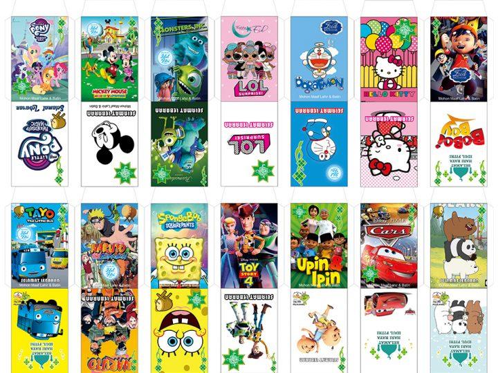 Download Template Desain Amplop Lebaran Anak