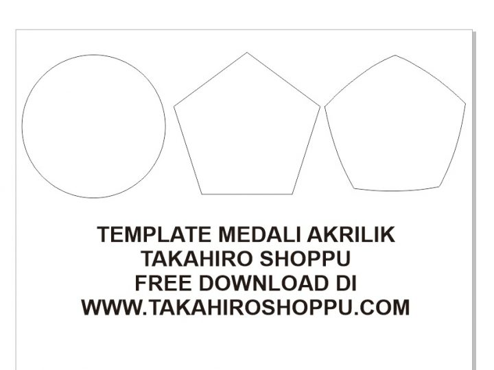 DOWNLOAD TEMPLATE MEDALI AKRILIK